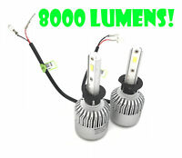 H1 100W LED HEADLIGHT BULBS KIT 8000L Canbus For Rover MGZR NON PRO 01-07 HIGH