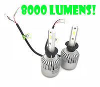 Fits Peugeot 308 2007-2013 HIGH - H1 100W LED HEADLIGHT BULBS KIT 8000 LUMENS CA