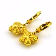 24k Yellow Gold Filled Earrings Butterfly Dangle Hoop GF Charms Fashion Jewelry
