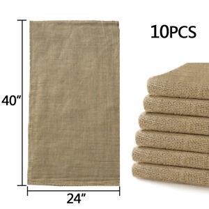 "10pcs Reusable Burlap Jute Bag 24""x40"" Potato Sandbag Sack Gunny Race Bags Sacks"