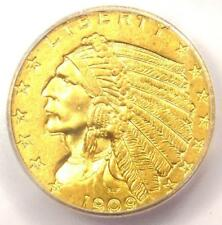 1909 Indian Gold Quarter Eagle $2.50 Coin - Certified ICG MS64 - $1,720 Value!