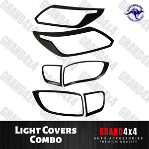 Front + Rear Light Covers Trim to suit Holden Colorado Trailblazer 2016-2020