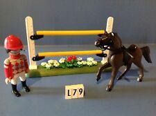 (L79) playmobil cavalier poney ranch cheval course ref 6930 5221 6926 5222 5418