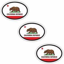 3x Ovale Drapeau Autocollants California petit code de pays Ordinateur Portable Tablette Smartphone