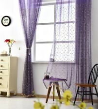 4 Colors Embroidered Cherry Voile Sheer Curtain Nice Custom Window Tulle 1 Piece
