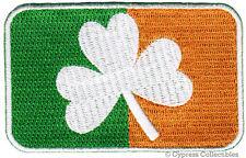 IRELAND CLOVER FLAG PATCH iron-on embroidered IRISH EMBLEM SHAMROCK new