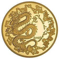 50 euros or  Année du dragon 1/4 oz BE 2012 Rare 1000 ex. neuf Monnaie de Paris