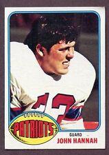 1976 Topps John Hannah #16 Football Card