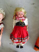 Vintage 1930s Celluloid Turtle Mark Ethnic Girl Doll