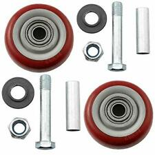 Magicampshell Push Cart Wheel 2sets 3inch Red Wear Resisting Pu Caster Wheels S