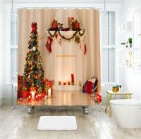 3D Weihnachten Xmas 261 Duschvorhang Wasserdicht Faser Bad Daheim Windows DE