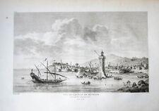 1782 Lesbos MYTILENE Mytilini cuivre clés-vue Dambrun Choisel-Gouffier