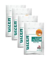 4 Sachets De 120 Filtres Menthol GIZEH Slim-Feuille À Rouler-Filtre cigarette