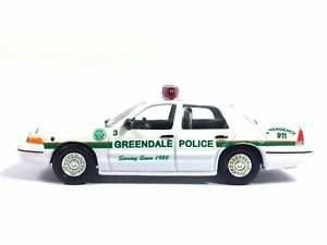 Racing Champions Greendale Police 1999 99 Ford Crown Victoria Diecast 1/64 Loose