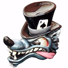 Top Hat Wolf Black Shift Knob w/ C5 Automatic Shifter Adapter U.S MADE