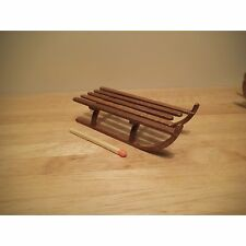 Dolls House 12th Scale Slatted sledge KIT McQueenie