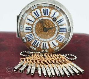 Set von14 Verschiedene Taschenuhrschlüssel Spindeluhr Schlüssel Aufziehschlüssel