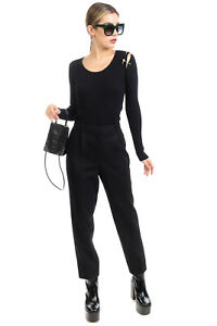 RRP €1080 THE ROW Tailored Trousers Size 10 / L Stretch Wool Blend Made in USA