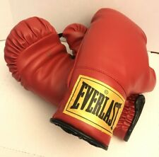 Everlast Boxing Gloves 12 oz Traditional Red w/ Yellow Tag Classic