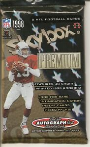 """Skybox Football Cards Lot  """" 4-Pack """" Factory Sealed Packs"""