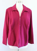 NWT $109 Chicos Womens Petite Solid Mulberry Red Ponte Knit Jacket size 2P