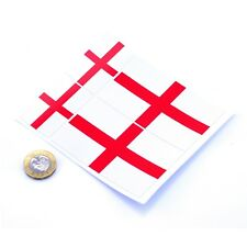 "England Flag Stickers x4 3"" & 2"" St George Cross Car Vinyl Decals"