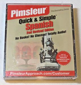 Pimsleur Veloce E Semplice Spagnolo Audio Lessons 2nd Rivisto Edition Sealed New