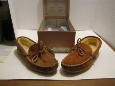 L.B. EVANS 624-1 MENS LOAFERS/SLIPPERS LEATHER 8 M NOS MADE IN USA READ