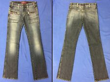 Miss Sixty Low Rise Skinny Slim Leg Jeans Zip Pockets Moto Rocker NWOT 26/32
