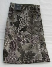 LADIES MARKS AND SPENCER BLACK GREY KHAKI FULLY LINED FLORAL MINI SKIRT SIZE 20