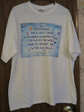 WOMEN'S BLOUSE - TEE SHIRT - TOP - SIZE XL - MARGARET MEAD - CHANGE THE WORLD