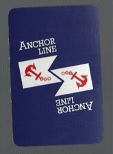 Swap Playing Cards  1  VINT   ANCHOR  LINE   STEAMSHIP  SHIPPING  S119Swap Playi