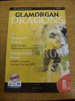 22/06/2005 Cricket Programme: Glamorgan v Somerset [At Cardiff] & 25/06/2005 War