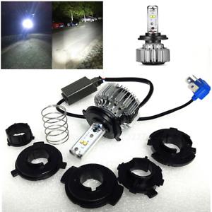Motorcycle Bike LED Chip Headlight Hi-Lo H4 9003 6000K 20W 3000LM Bulb Lamp