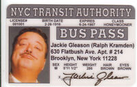 Jackie Gleason/ Ralph Cramden novelty plastic collectors card Drivers License