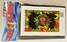 1 Rasta Dude Multi Colored Indoor or Outdoor Flying Flag 3x5ft Banner