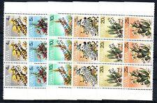 Stamps of  SWA 1978 Sg   # 324-329  flowers   set MNH  3-BLOCK