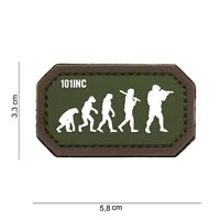 Morale Patch 3D PVC  Airsoft evolution green/brown  hook and loop