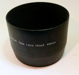 49mm Lens Hood metal screw in threaded telephoto  for 200mm 135mm lenses