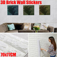 10Stk 3D Tapete Wandpaneele Selbstklebend Ziegel Wasserfest Wandaufkleber Neu