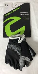 CANNONDALE Women's CDALE Classic Cycling Gloves Size XS Black & Gray NEW