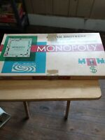 Vintage 1961 Parker Brothers Monopoly Board Game Complete With Iron Player Piece