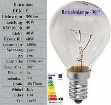 Sonderposten 40W Backofenlampe E14 Tropfen -300° Glühbirne Glühlampe 240V 350lm