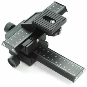 4 Way Camera Focusing Rail Slider For Macro Close-up UK
