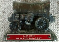 Copper Collectible Metal Bank EARN MORE FIRST FEDERAL-GARY