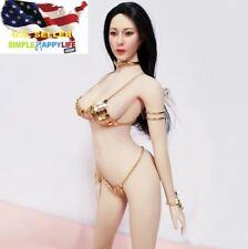 "1/6 metal golden bikini suit for 12"" female figure doll phicen hot toys ❶USA❶"