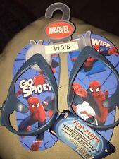 Toddler ULTIMATE SPIDER-MAN Flip Flops Sandals By MARVEL SIZE M (5/6)
