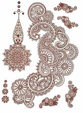 Einmal Temporay Tattoo Tatoo Körper Schmuck Henna Bollywood Body Decor Indisch