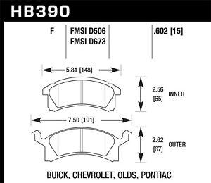 Disc Brake Pad Set Front Hawk Perf HB390F.602