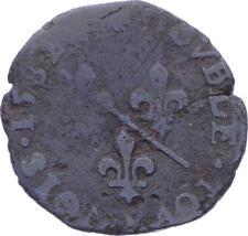 O2869 Rare R2 Dombes Louis II double tournois 2e type 1582 Trévoux ->Make offer